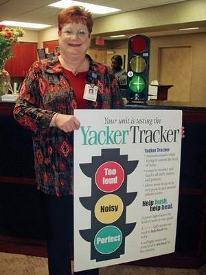 Nurse Using Yacker Tracker