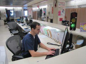 Yacker Tracker in Hospital Nurse Station